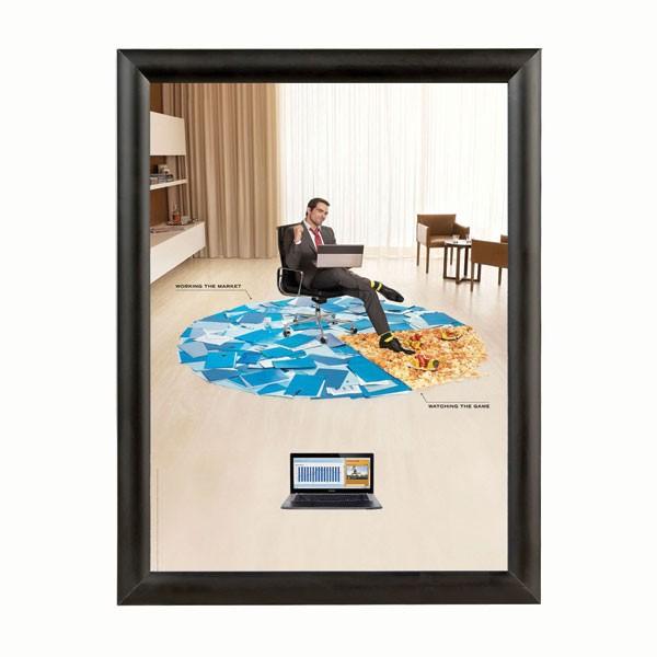 """Snap Frame 8.5"""" X 11"""" Poster Size 1"""" Black Color Profile, Mitered Corner"""