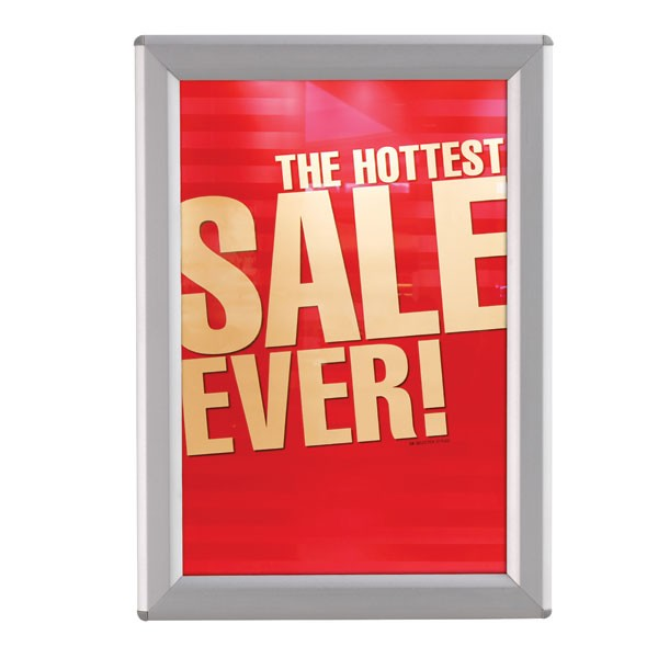 """5'' X 7'' Poster Size 0.55"""" Silver Profile, Safety Corner, No Back Support,"""