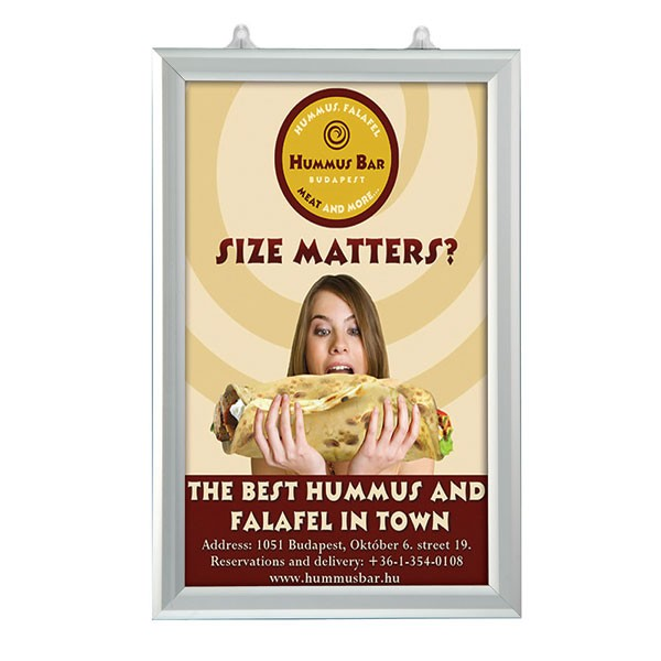 "Slide In Frame 11'' X 17''  Poster Size 1"" Silver Color Profile, Mitered Corner, Double Sided"