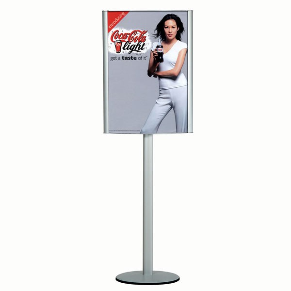 """Free Standing Leaflet Display-curved Box 18""""w x 24""""h  Poster Width w/ out lighting"""