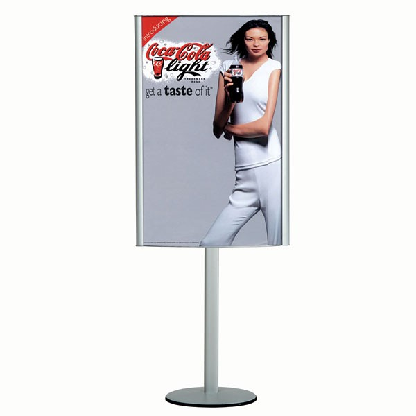 """Free Standing Leaflet Display-Curved Box 24""""w x 36""""h  Poster Width w/ out lighting"""