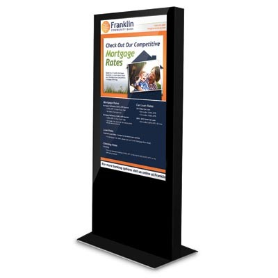 55 LCD Kiosk w/ Built in Media Player