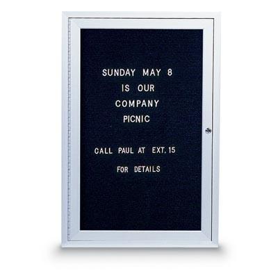"24 x 36"" Illuminated Single Door Indoor Enclosed Letterboard"
