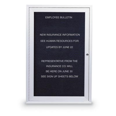 "18 x 24"" Illuminated Single Door Outdoor Enclosed Letterboard"