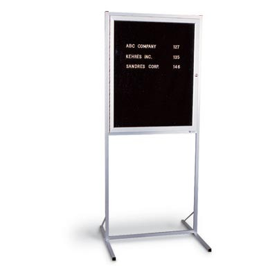 "30 x 36"" Aluminum Framed Enclosed Double Pedestal Letterboard"
