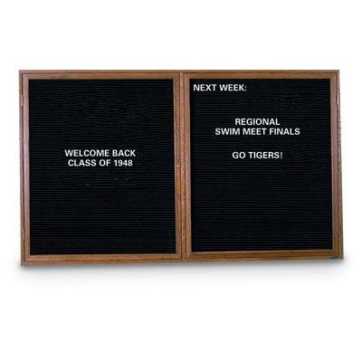 """60 x 48"""" Double Door Standard Indoor Wood Enclosed Letterboard"""