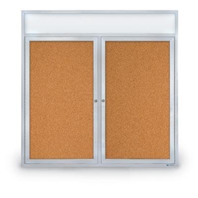 """48 x 48"""" Double Door with Header Indoor Enclosed Corkboards"""