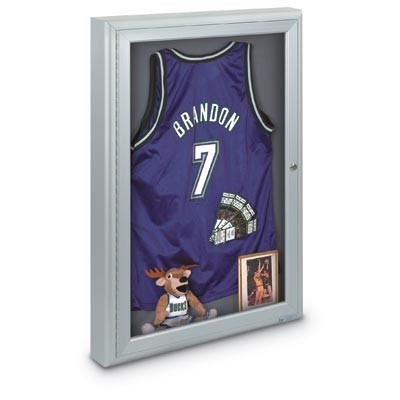 "24 x 36"" Single Door Standard 4"" Radius Frame Enclosed Corkboard"