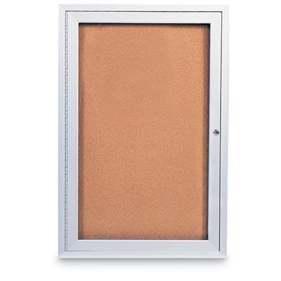 """24 x 36"""" Single Door Standard Indoor Enclosed Corkboards"""
