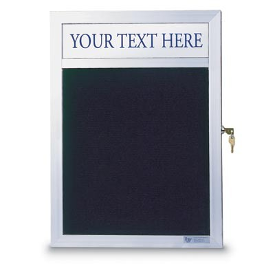 "36 x 36"" Slim Style Enclosed Letterboard w/ Header"