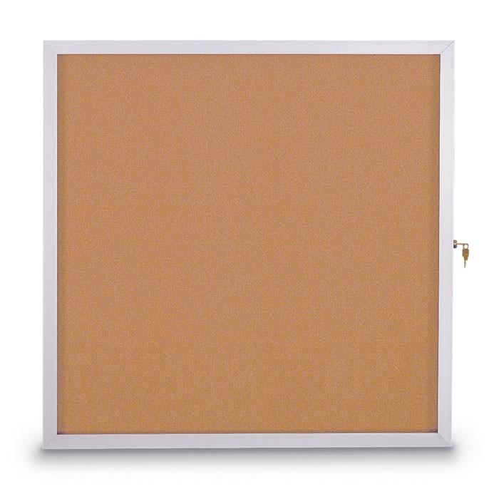 "36 X 48"" Slim Style Standard Enclosed Corkboard"