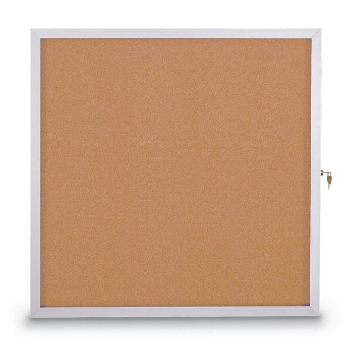 "48 X 36"" Slim Style Standard Enclosed Corkboard"