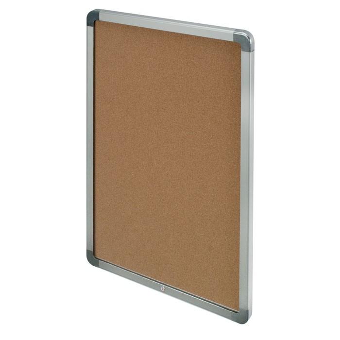 """36 x 36"""" Radius and Hingeless Low Profile Corkboard"""