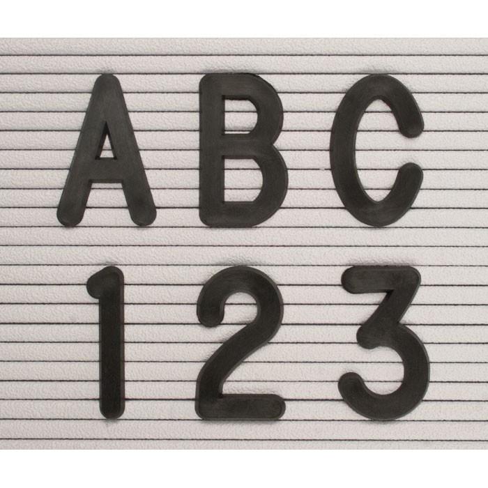 2 Black Helvetica Letter Sprue Sets