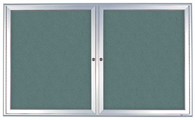 "60 x 36"" Radius Frame Enclosed Easy Tack Boards"