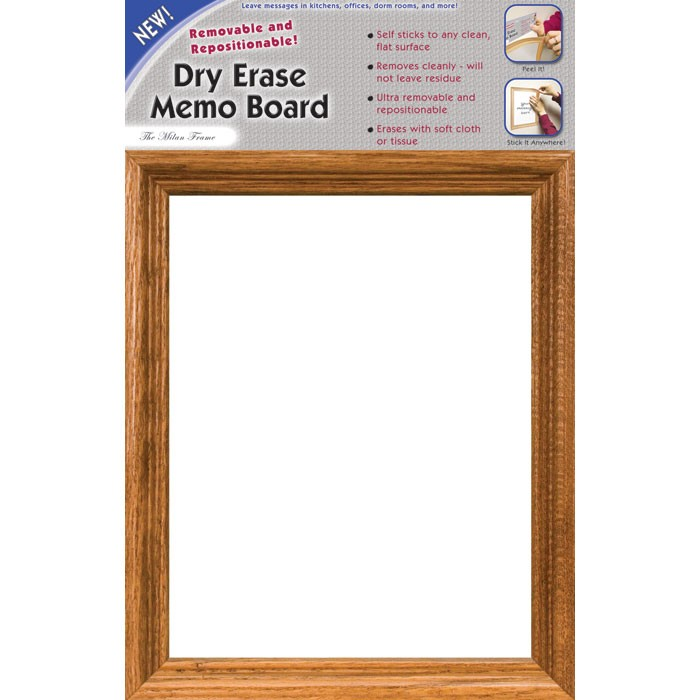 """14 x 9"""" Removable/Repostionable Dry Erase Board Milan Frame"""