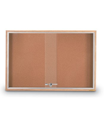 """36 x 24"""" Standard Wood Sliding Door Corkboards"""