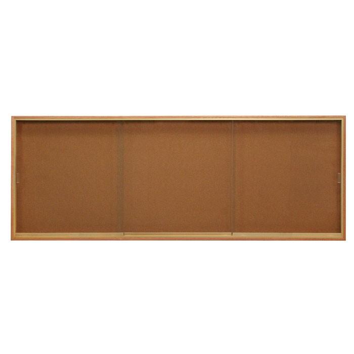 """96 x 36"""" Standard Wood Sliding Door Corkboards"""