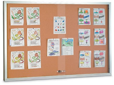 "72 x 36"" Sliding Glass Door Corkboards with Traditional Frame"