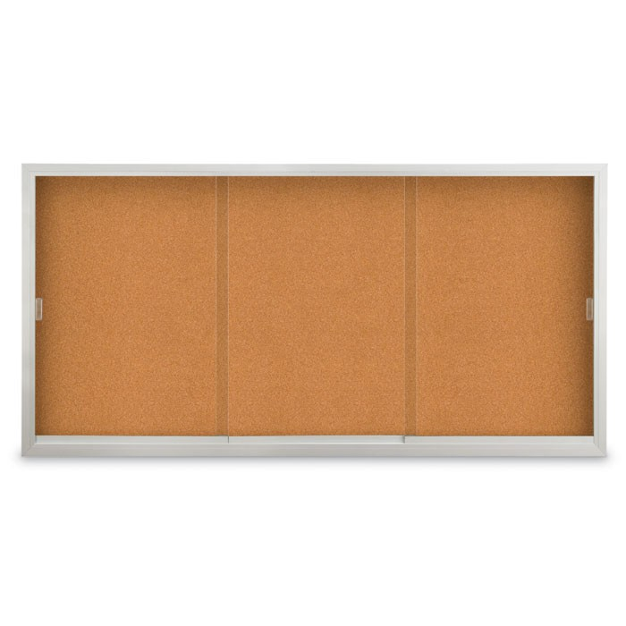 """96 x 36"""" Sliding Glass Door Corkboards with Traditional Frame"""