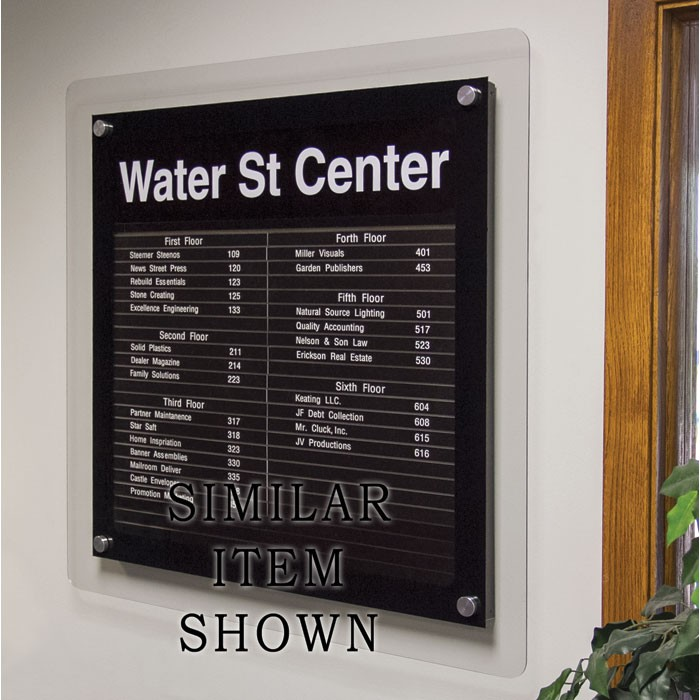 """18 x 12"""" Corporate Series Extrusion Directory Board"""