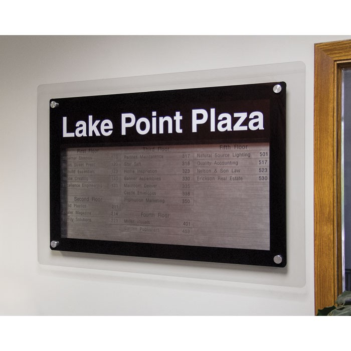"""24 x 36"""" Corporate Series Magnetic Strip Directory Board"""