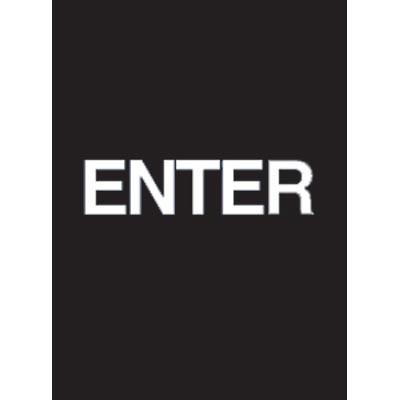 """7 x 11"""" Enter Acrylic Sign"""