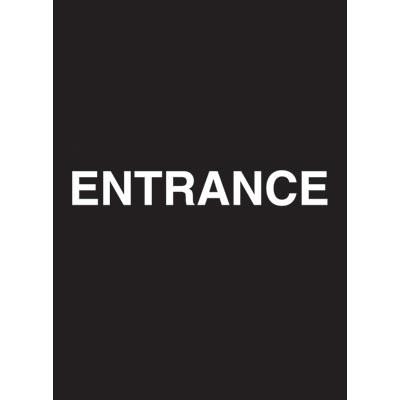 "7 x 11"" Entrance Acrylic Sign"