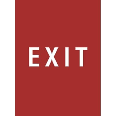 "7 x 11"" Exit Acrylic Sign"