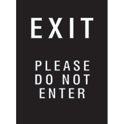 "9 x 12"" Exit Please (Do Not Enter) Acrylic Sign"