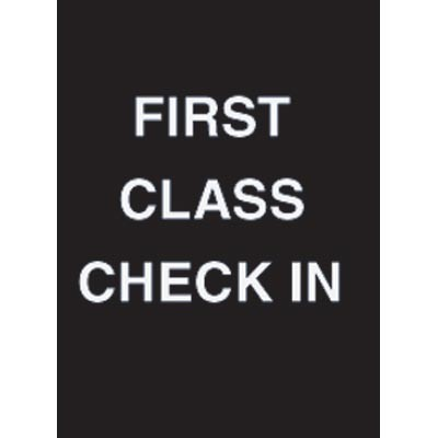 """7 x 11"""" First Class Check In Acrylic Sign"""