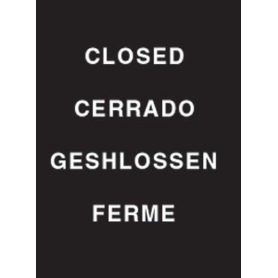 "9 x 12"" Closed Acrylic Sign"