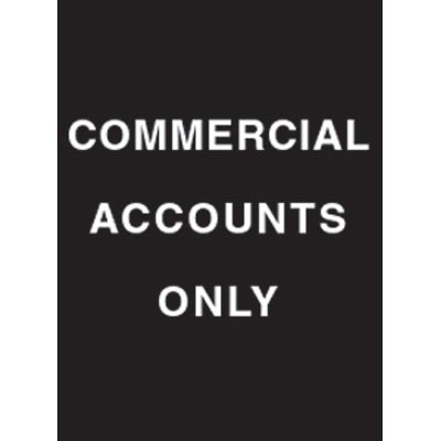 """9 x 12"""" Commercial Accounts Only Acrylic Sign"""