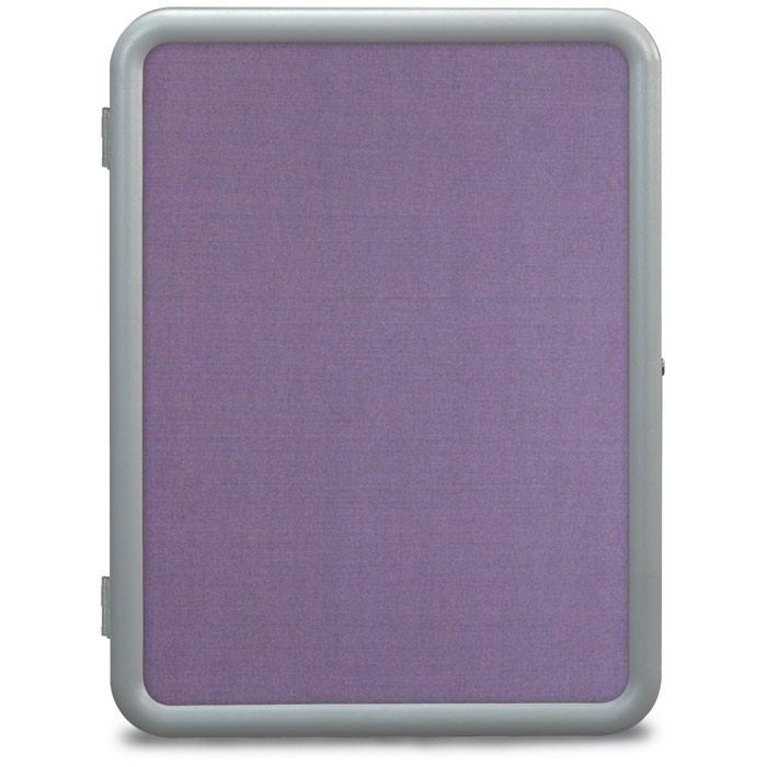 "18 x 24"" ""Image"" Enclosed Corkboards- Amethyst Fabricboard"