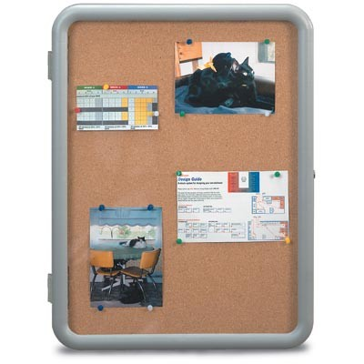 "24 x 36"" ""Image"" Enclosed Corkboards- Corkboard"