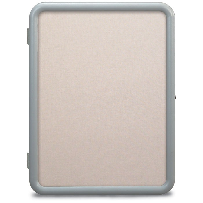 "18 x 24"" ""Image"" Enclosed Corkboards- Pearl Accent Fabricboard"