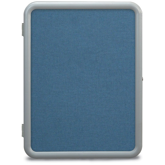 "18 x 24"" ""Image"" Enclosed Corkboards- Ultramarine Fabricboard"