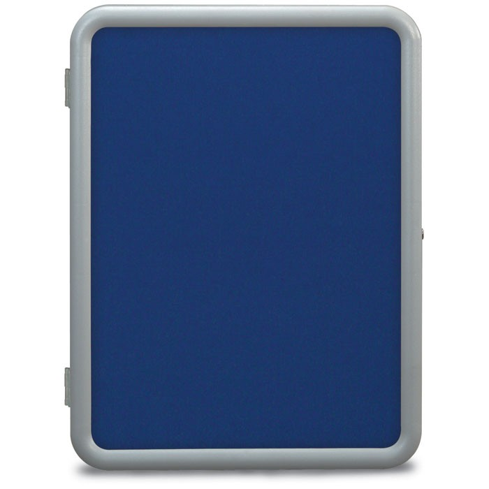"24 x 36"" ""Image"" Enclosed Corkboards- Cobalt Accent Fabricboard"