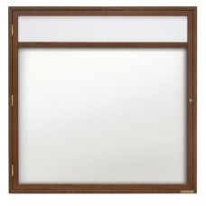 "36 x 36"" Wood Enclosed Dry/Wet Erase Boards with Header"