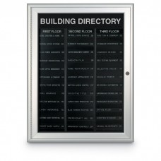 """27 x 34"""" Radius Frame Nonmagnetic Enclosed Directory Board (AD Type)"""
