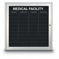 """33 x 34"""" Radius Frame Nonmagnetic Enclosed Directory Board (AD Type)"""