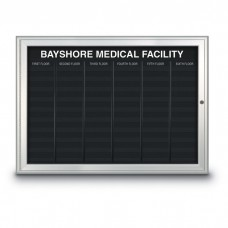 """47 x 34"""" Radius Frame Nonmagnetic Enclosed Directory Board (AD Type)"""
