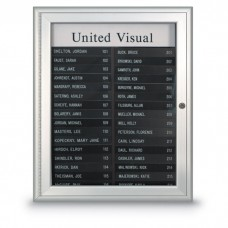 """19 x 22 1/2"""" Radius Frame Nonmagnetic Enclosed Directory Board (AD Type)"""
