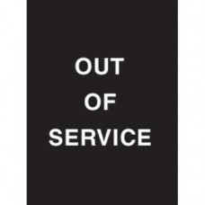 "9 x 12"" Out of Service Acrylic Sign"