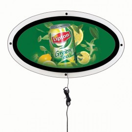 Ellipse LED lit Poster sign