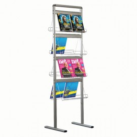 "Brochure Set - Standing Double Sided, Brochure Display Holder 2 x 4 (8.5"" x 11"") Capacity"