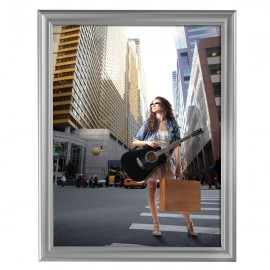 "Decorative  Frame 22'' X 28''  Poster Size 1.58"" Silver Color Profile, Mitered Corner"