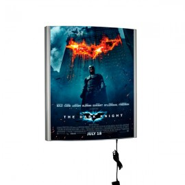 "Curved LED Box 22""w x 28""h Poster Size Silver, Single Sided"