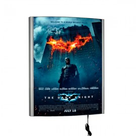 "Curved LED Box 30""w x 40""h Poster Size Silver, Single Sided"