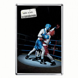 """Snap Frame 24'' X 36''  Poster Size 1"""" Silver Color Profile, Round Corner"""